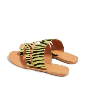 Topshop Honey Zebra Print Slide Sandal